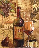 Wine Collage I - mini Art