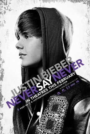 Framed Justin Bieber: Never Say Never Movie Print