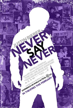 Framed Justin Bieber: Never Say Never Film Print