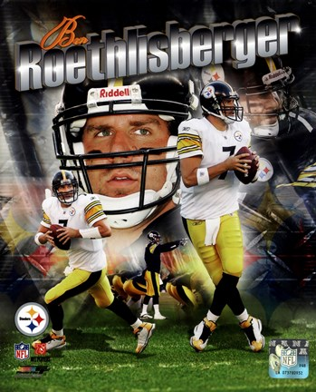 Framed Ben Roethlisberger 2011 Portrait Plus Print