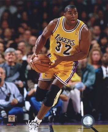 Magic Johnson 1995 96 Action Fine Art Print By Unknown At