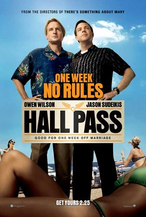 Framed Hall Pass Print
