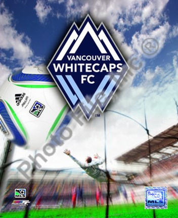 Framed Vancouver Whitecaps 2010 Team Logo Print