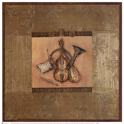 Framed Classical Instrument II Print