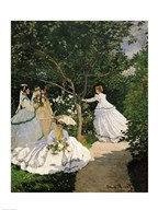 Women in the Garden, 1867 Art