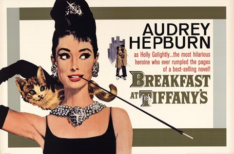 Framed Audrey Hepburn (Breakfast At Tiffany's) Print