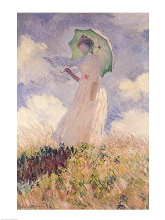Framed Woman with Parasol turned to the Left, 1886 Print