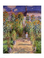 The Artist's Garden at Vetheuil, 1880 Art