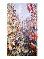 The Rue Montorgueil, Paris, Celebration of June 30, 1878 Art