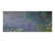 Waterlilies: Morning, 1914-18 (centre right section)  Fine Art Print