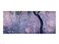 Waterlilies: Two Weeping Willows, right section, 1914-18 Art