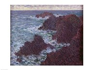 The Rocks at Belle-Ile, the Wild Coast, 1886 Art