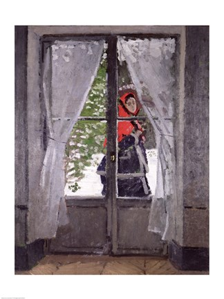 Framed Red Cape (Madame Monet) c.1870 Print