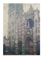Rouen Cathedral, West Portal, Grey Weather, 1894 Art