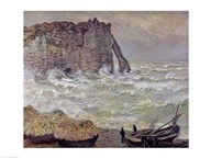 Rough Sea at Etretat, 1883  Fine Art Print