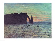 The Hollow Needle at Etretat, 1883 Art