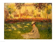 Woman in a Garden, 1876  Fine Art Print