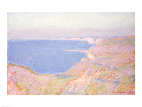 Framed On the Cliffs near Dieppe, Sunset, 1897 Print
