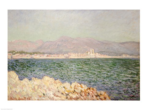 Framed Gulf of Antibes, 1888 Print