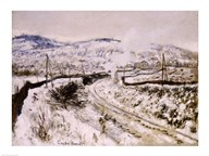 Train in the Snow at Argenteuil  Fine Art Print
