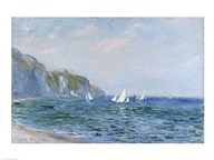 Cliffs and Sailboats at Pourville Art