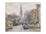 Canal a Amsterdam, 1874  Fine Art Print