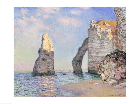 Framed Cliffs at Etretat, 1885 Print