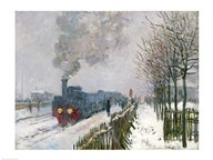 Train in the Snow or The Locomotive, 1875 Art