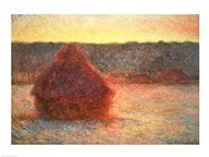 Haystacks at Sunset, Frosty Weather, 1891
