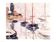 Sailboats on the Seine  Fine Art Print