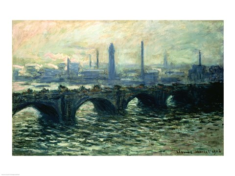 Framed Waterloo Bridge, 1902 Print