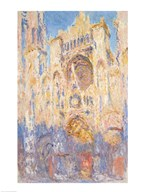 Rouen Cathedral, Effects of Sunlight, Sunset, 1892 (oil on canvas)  Fine Art Print
