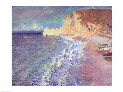 Framed Morning at Etretat, 1883 Print