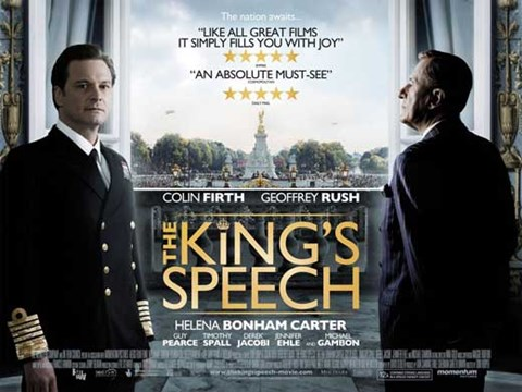 Framed King's Speech Movie Print