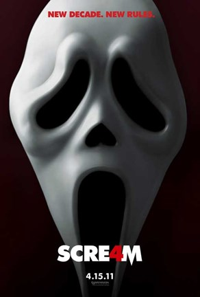 Framed Scream 4 Print