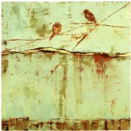 Birds on Horizon in Blue  Fine Art Print