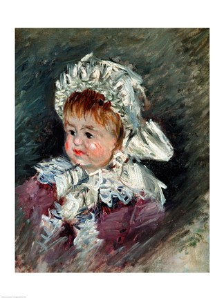 Framed Michel Monet (1878-1966) as a Baby, 1878-79 Print