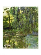 Weeping Willows, The Waterlily Pond at Giverny, c.1918 Art