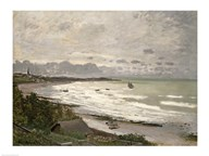 The Beach at Sainte Adresse, 1867 Art