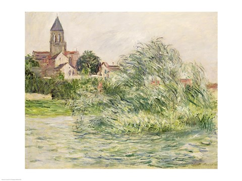 Framed Church and the Seine at Vetheuil, 1881 Print