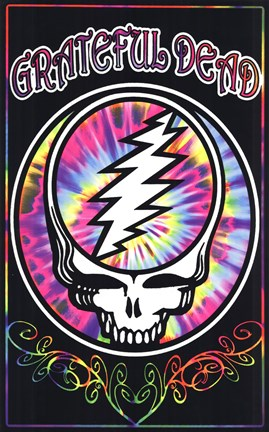 Framed GRATEFUL DEAD (Blacklight) Print