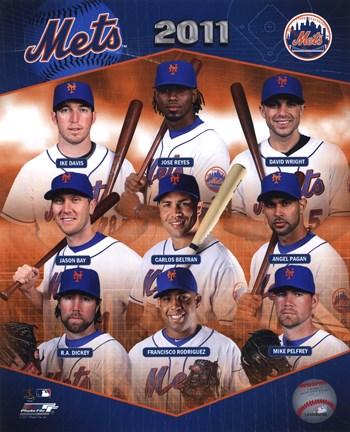 New York Mets 2011 Team Composite Fine Art Print By