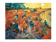 Red Vineyards at Arles, 1888  Fine Art Print
