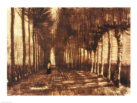 Framed Figure on a Road, 1884 Print