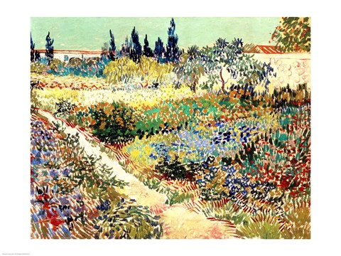 Framed Garden at Arles, 1888 Print