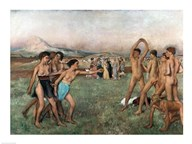 Young Spartans Exercising, c.1860  Fine Art Print