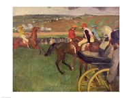 The Race Course - Amateur Jockeys near a Carriage Art