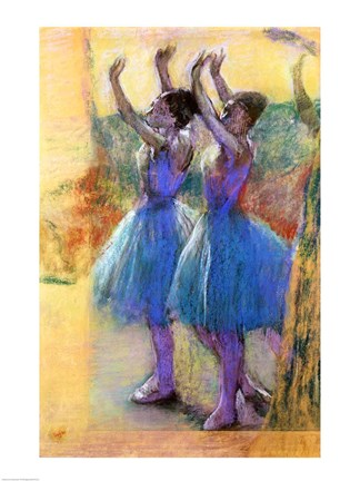 Framed Two Blue Dancers Print