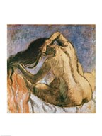 Woman Combing her Hair  Fine Art Print