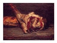 Still Life of a Leg of Mutton and Bread, 1865 Art